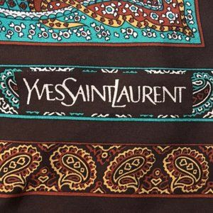 YVES Saint Laurent Silk Scarf Foulards Paris
